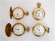 Four Gold Filled Pocket Watches