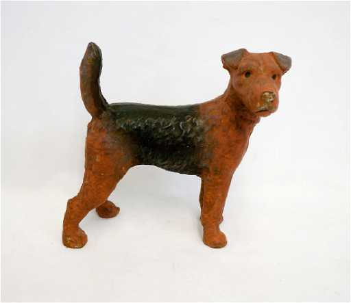 Vintage Cast Iron Fox Terrier Door Stop