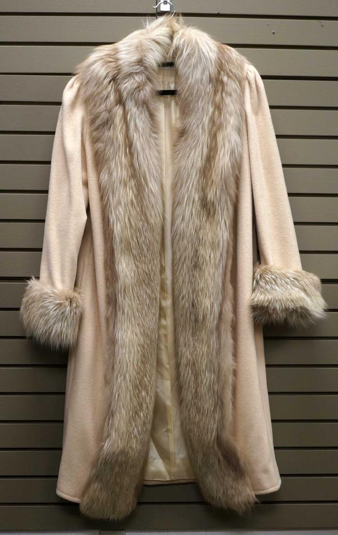 Amen Wardy Wool Fur-Trimmed Full Length Coat