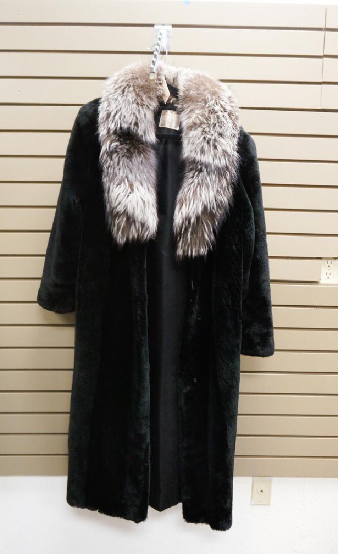 Black Sheared Canadian Beaver Full Length Coat
