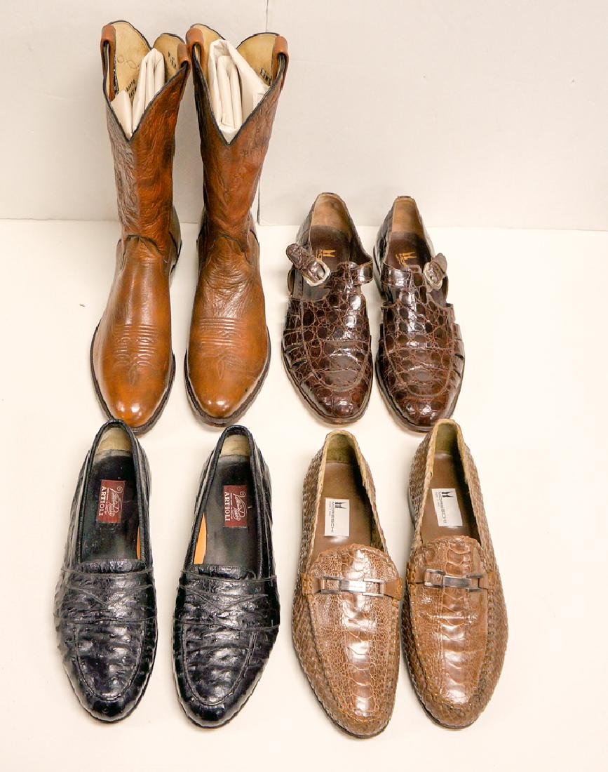 One (1) Pair Cowboy Boots & Three (3) Pairs Shoes