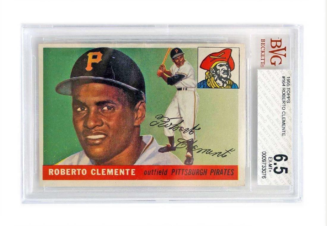 1955 Topps #164 Roberto Clemente RC BVG 6.5