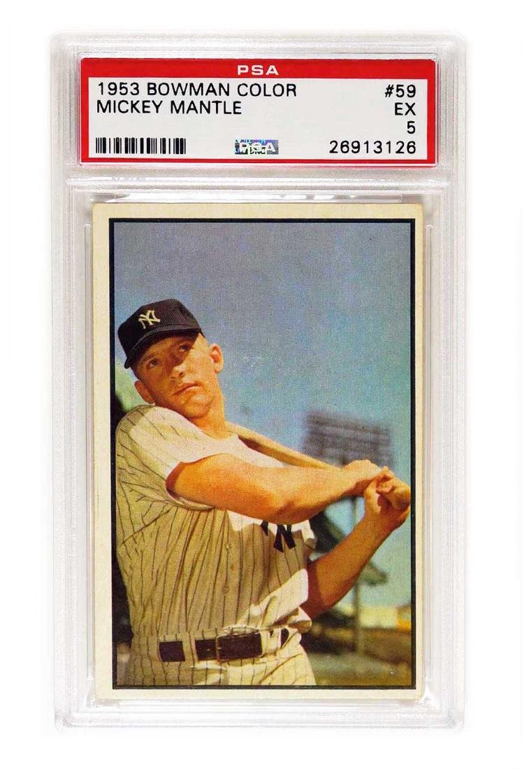 1953 Bowman Color #59 Mickey Mantle PSA 5