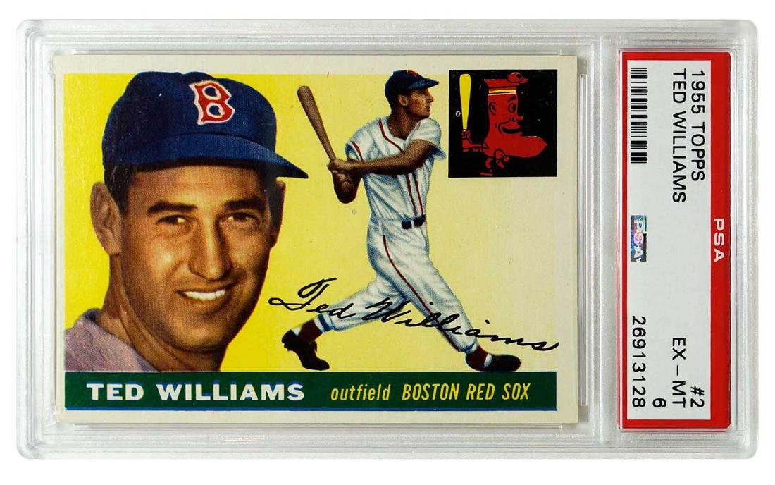 1955 Topps #2 Ted Williams PSA 6