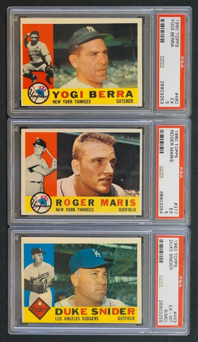 Group of Three 1960 Topps Graded Cards
