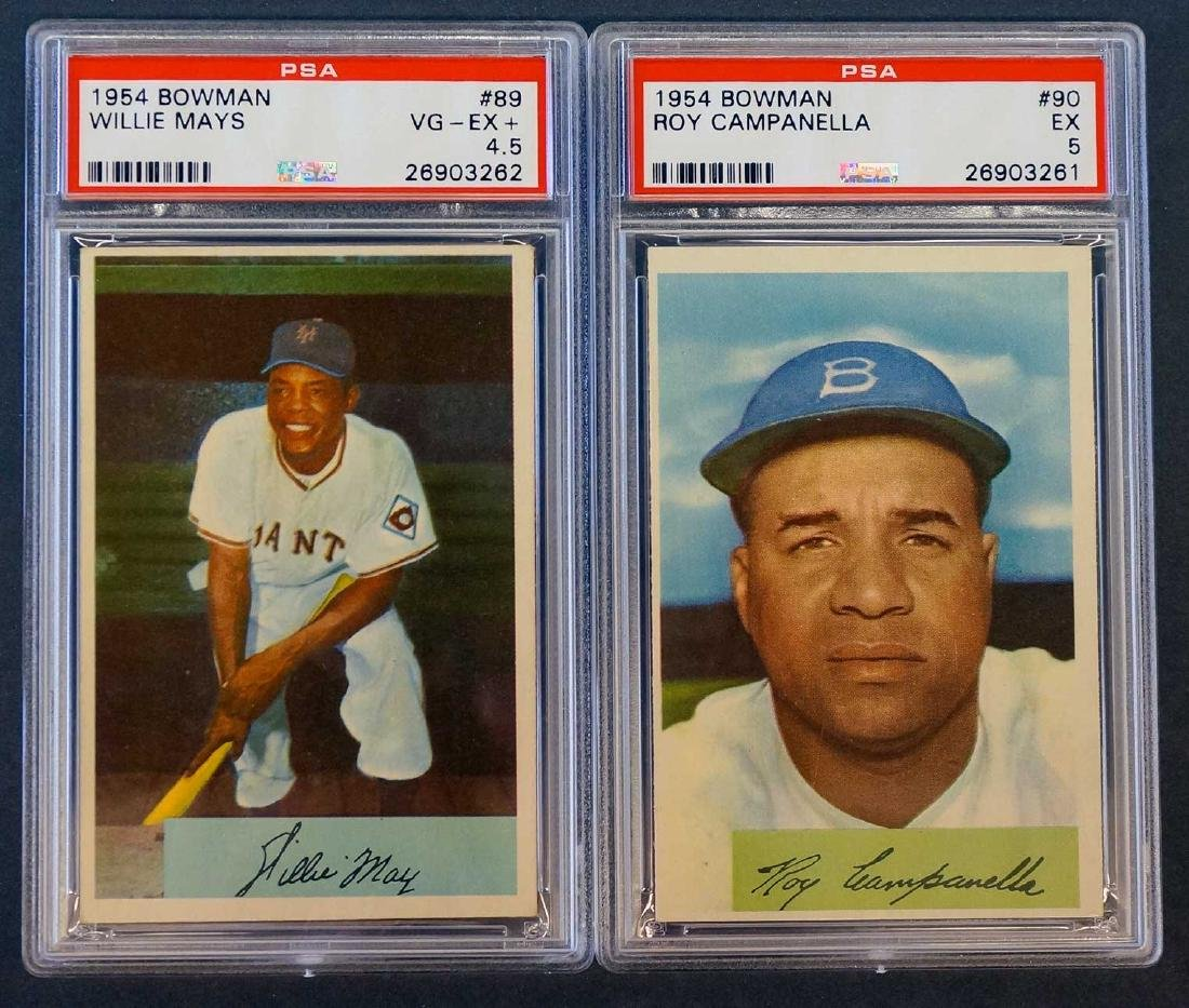 Group of Two 1954 Graded Cards