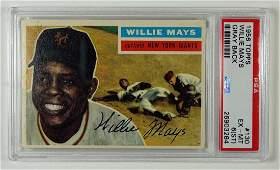 1956 Topps #130 Willie Mays Gray Back PSA 6 (ST)