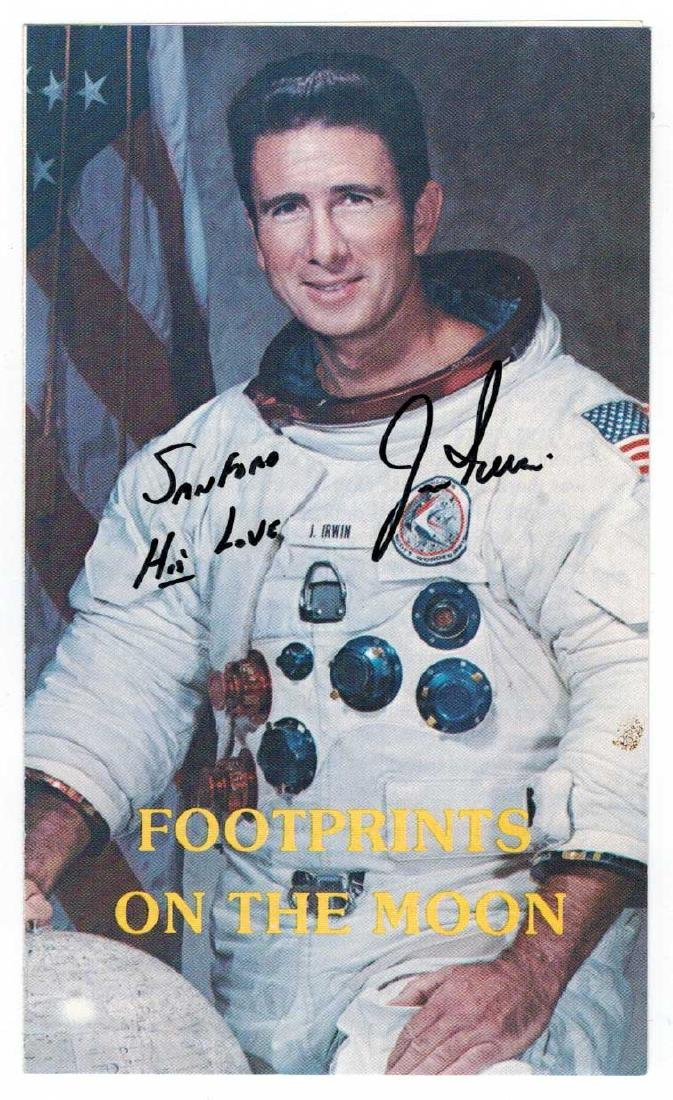 Astronaut James Irwin Autograph