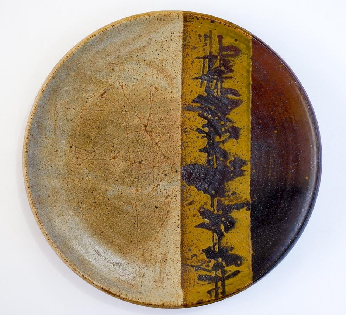 Jerry Glenn (Oregon, 1936-) Studio Pottery Charger