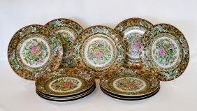 Group Antique Chinese Famille Rose Plates, Sixteen