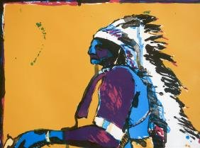 Fritz Scholder (1937-2005) Signed Lithograph