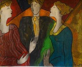 Linda Lekinff Original Oil Painting On Panel