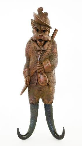 Brienz Swiss Carved Coat Hook