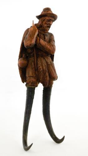 Black Forest Carved Coat Hook