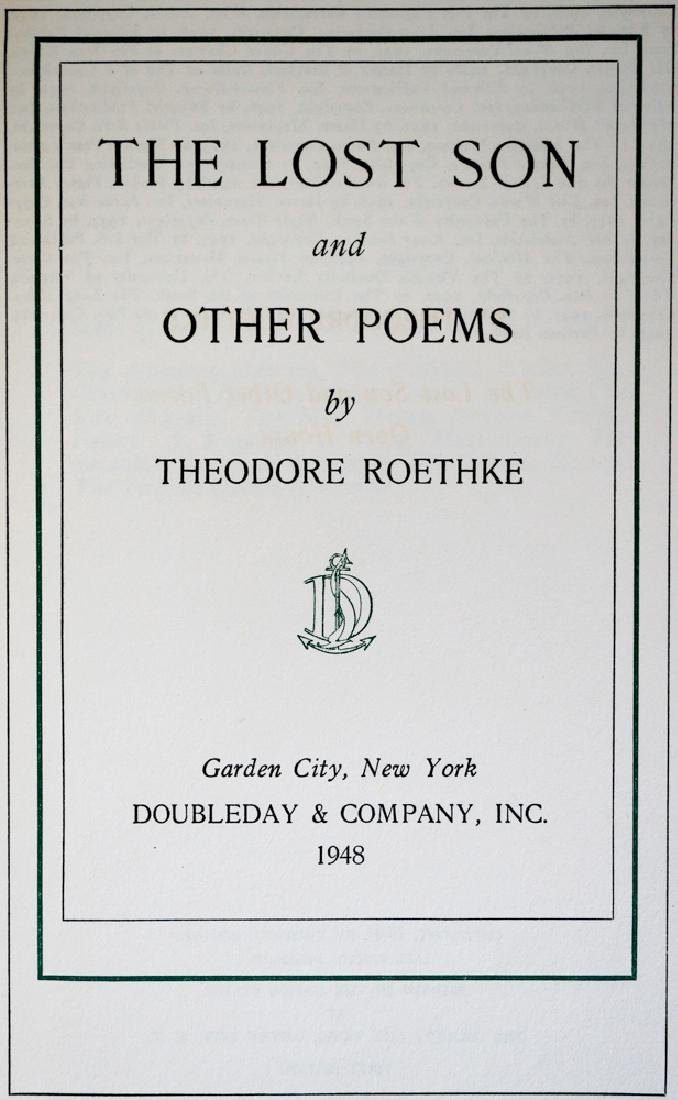 Theodore Roethke Signed First Edition - 3