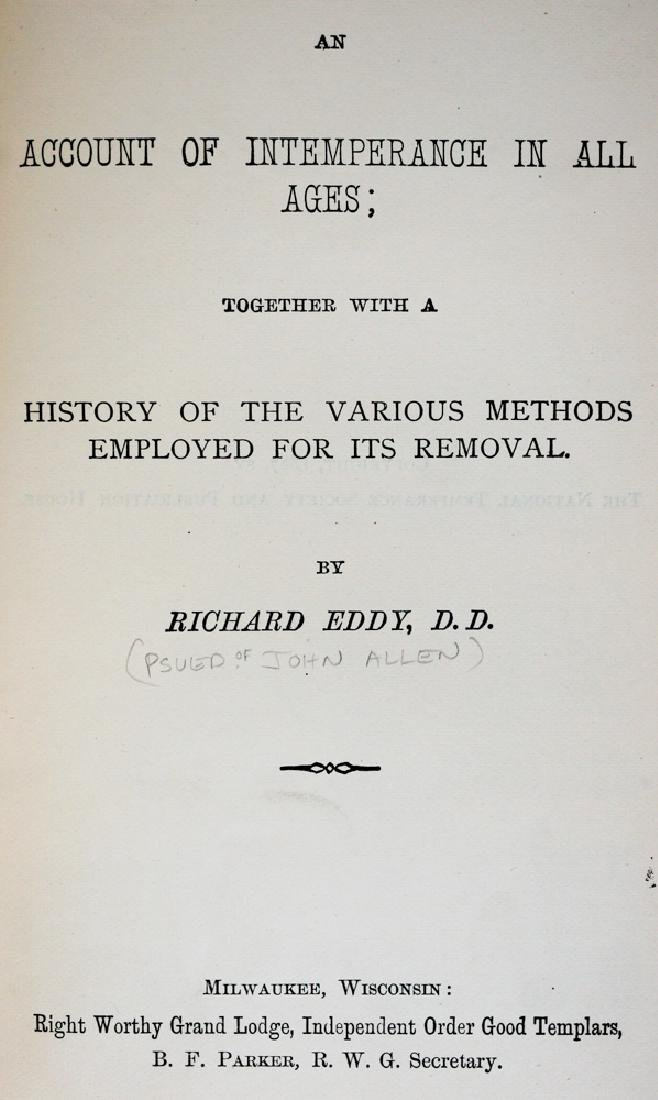 Alcohol In History by Richard Eddy, 1887 - 3