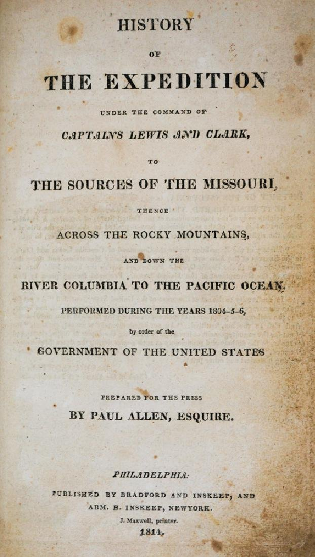 History of The Expedition Lewis and Clark, 1814