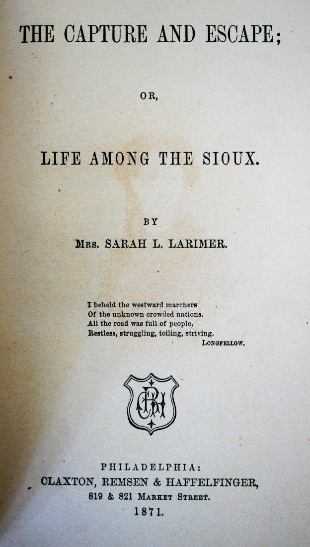 Capture and Escape, or Life Among the Sioux - 4