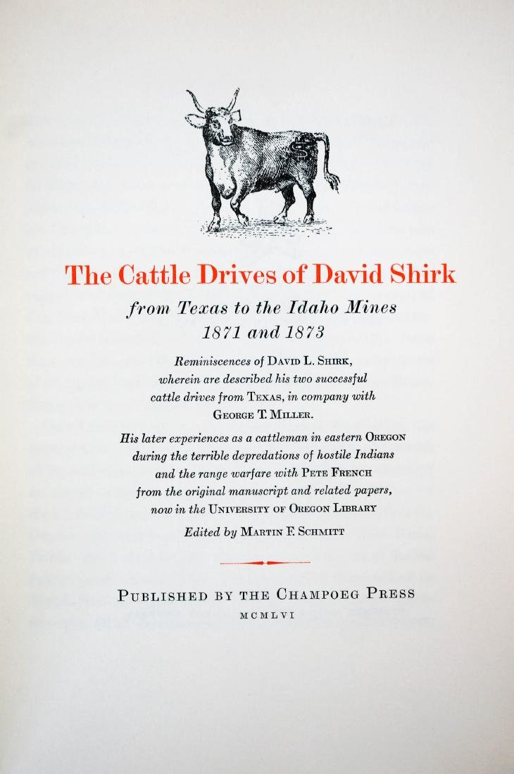 The Cattle Drives of David Shirk
