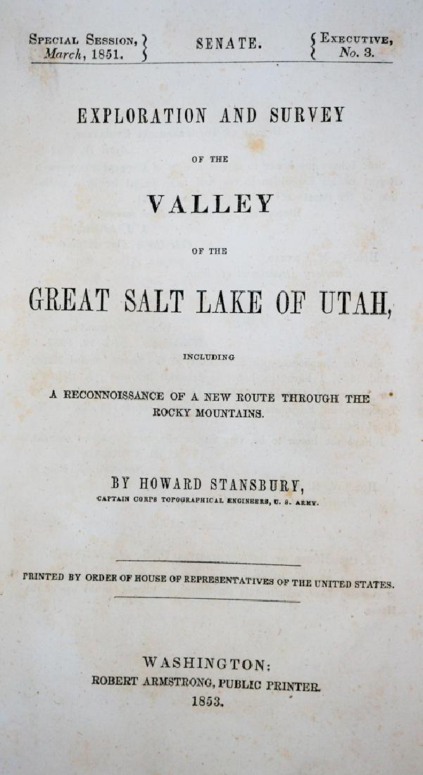 Valley of the Great Salt Lake of Utah. 1853
