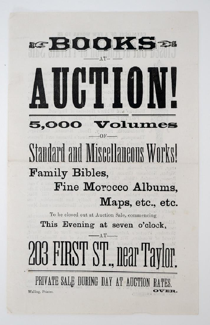 Books at Auction, Broadside