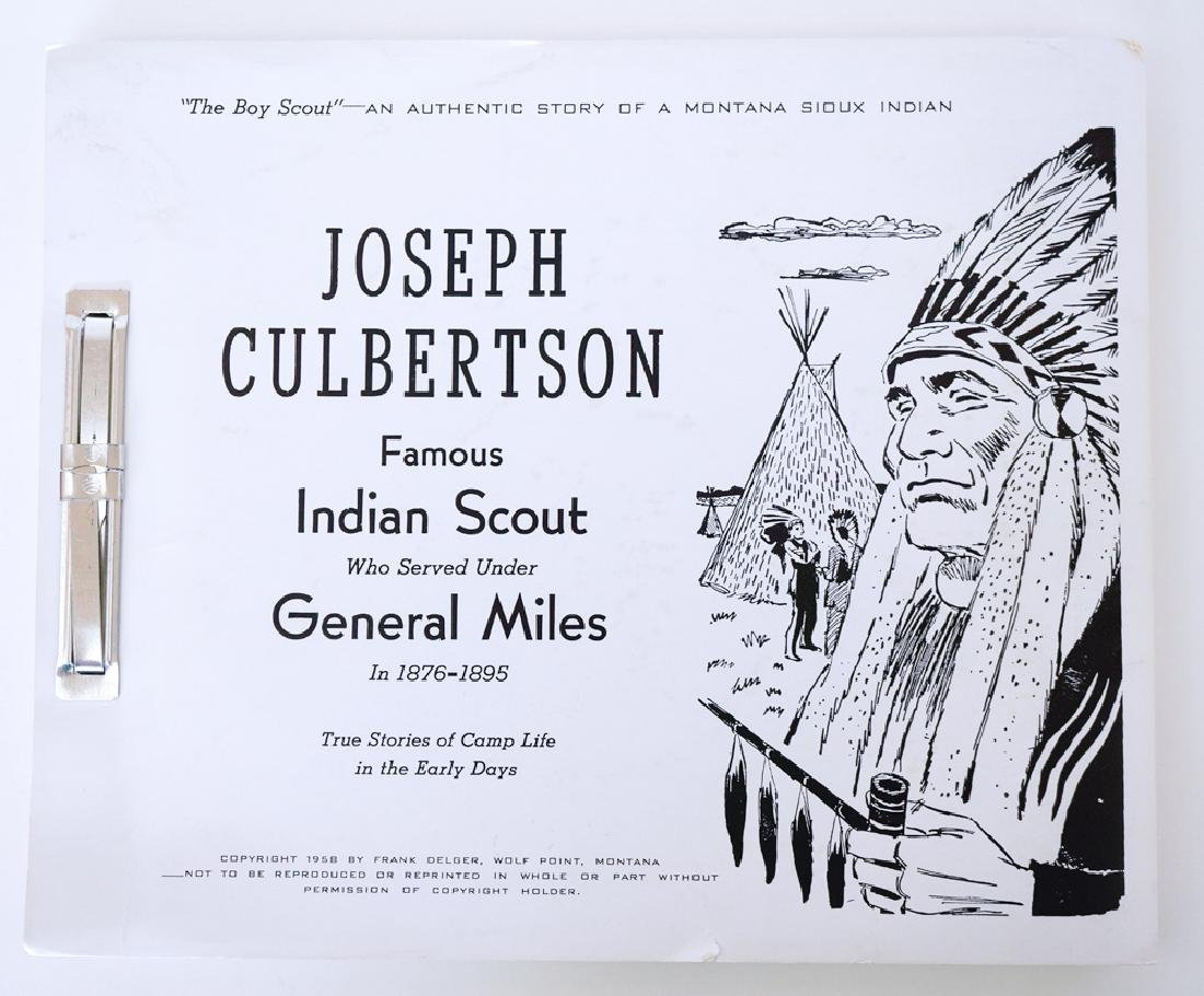 Joseph Culbertson, Famous Indian Scout, Soft Cover