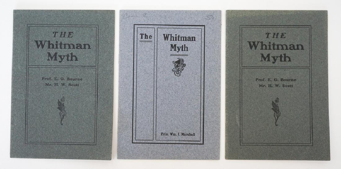 The Whitman Myth, 3 Different Editions
