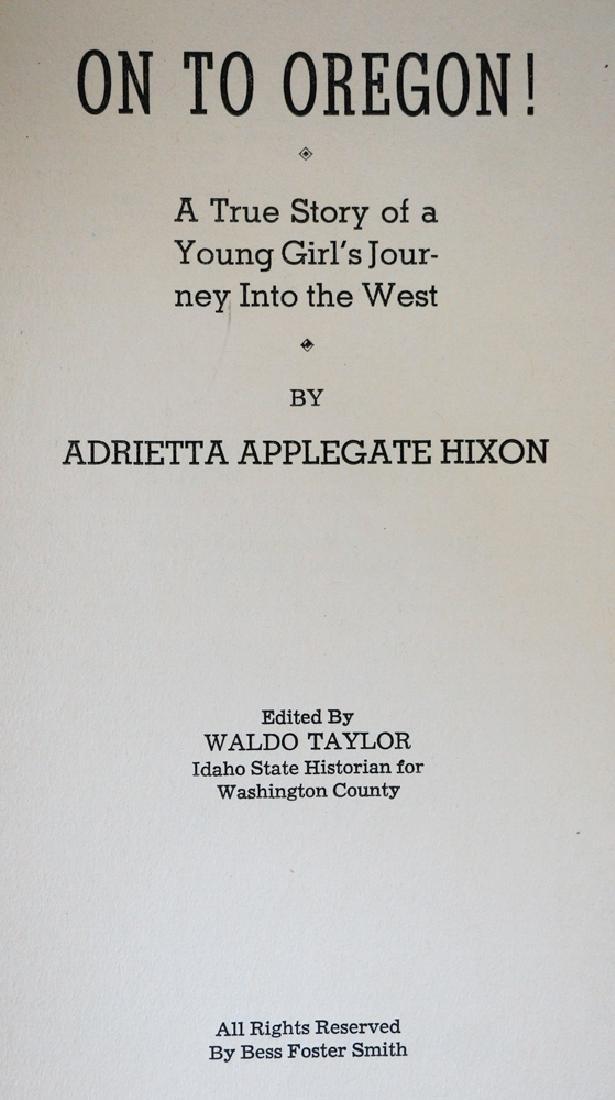 On to Oregon! By Adrietta Applegate Hixon - 2