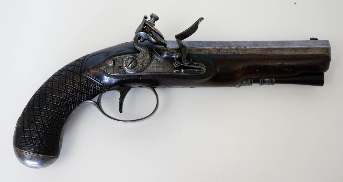 A Flintlock Dueling Pistol By Tatham