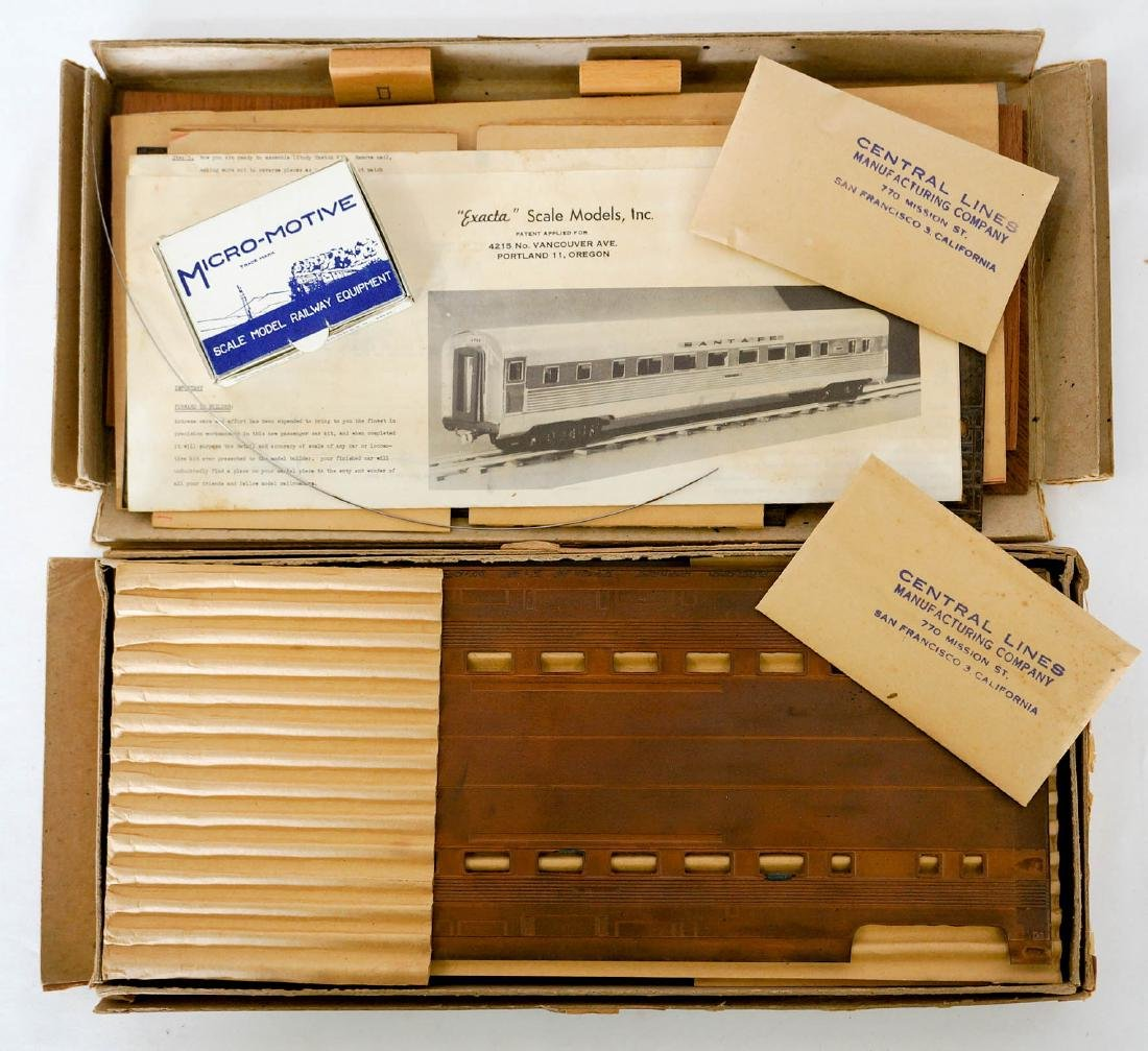 Central Lines Exacta Vintage HO Model Kits MIB - 2