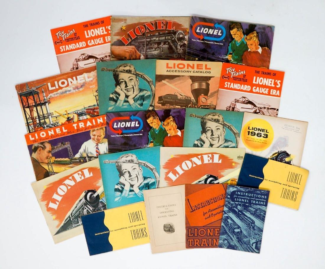 Group of Vintage Lionel Toy Trains Catalogs