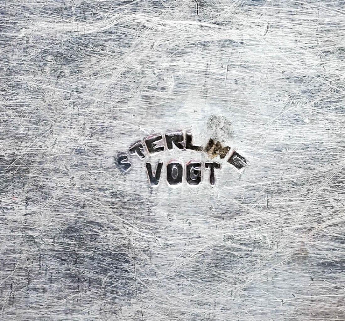 Vogt Signed Vintage Sterling Belt Buckle - 3