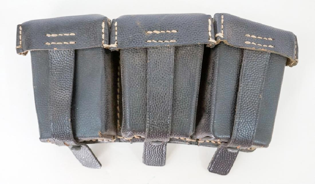 German WWII 98k Mauser Black Leather Pouch