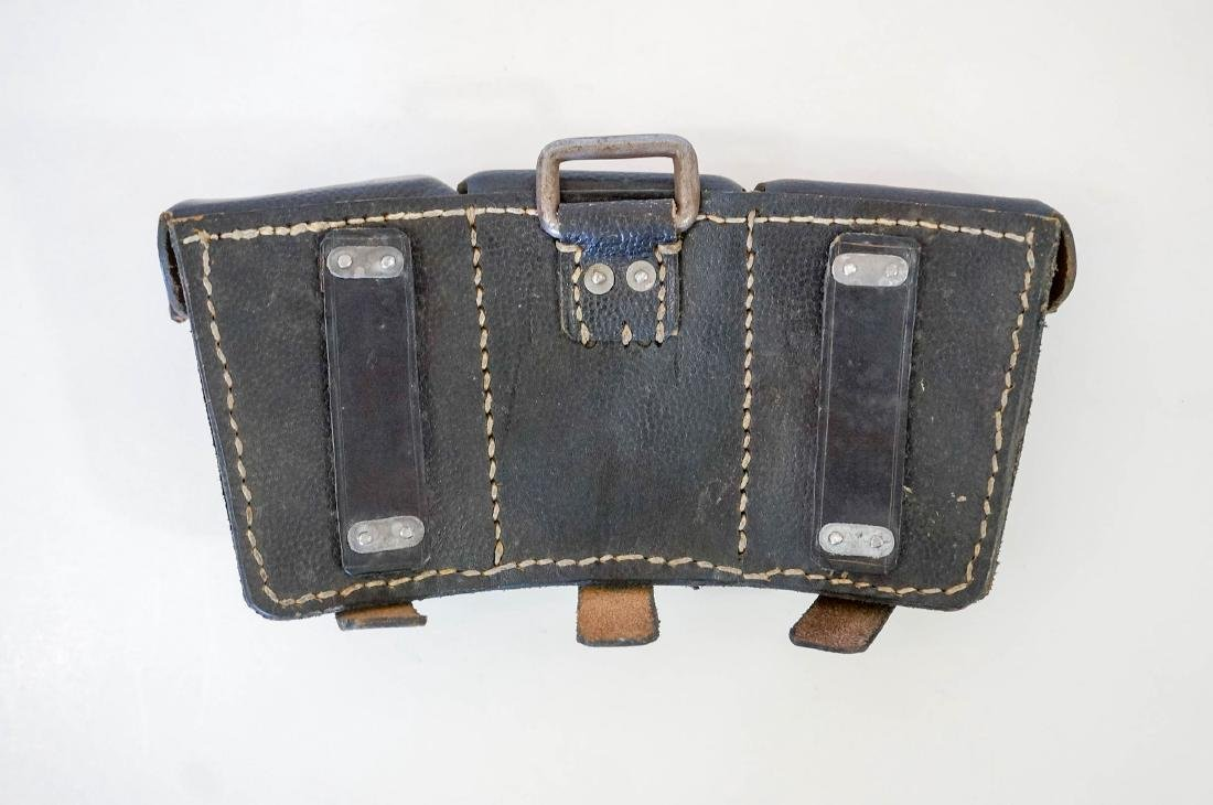 German WWII 98k Mauser Black Leather Pouch - 2