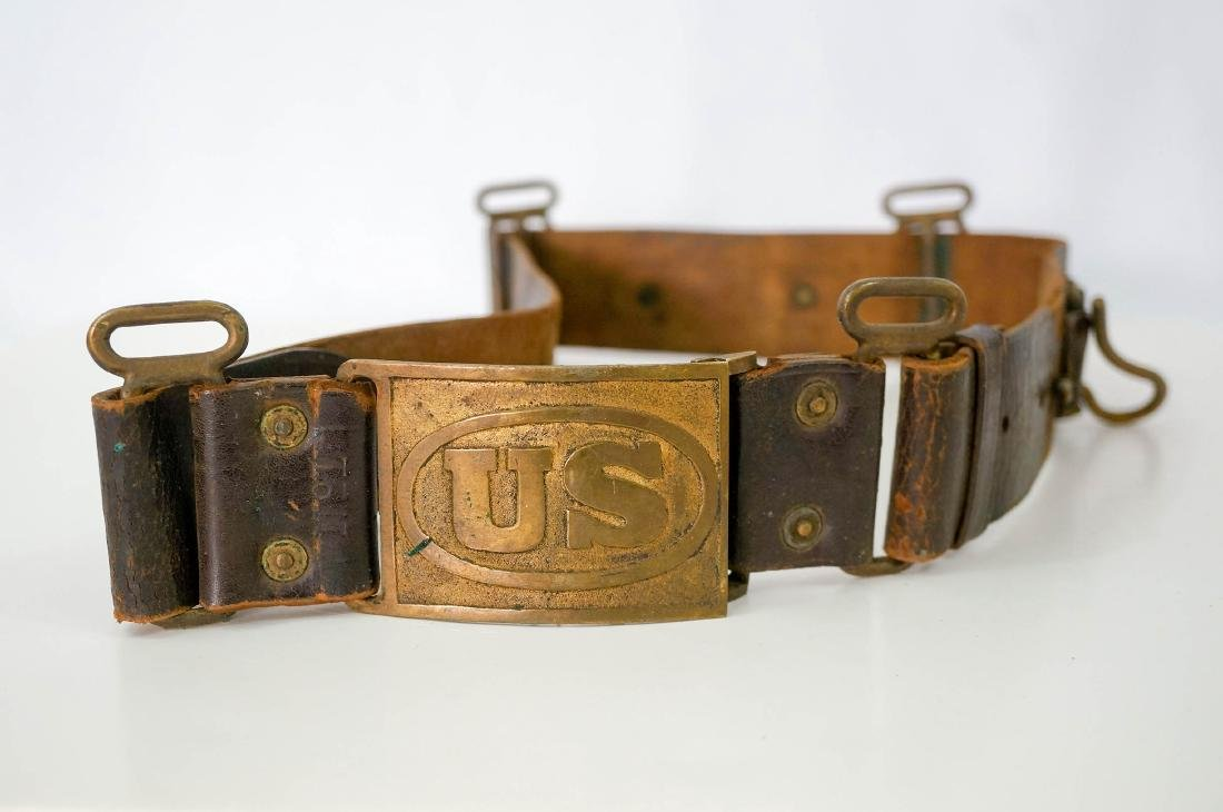 Sam Brown Officers Belt with Buckle, No Strap