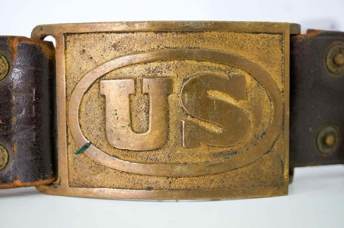 Sam Brown Officers Belt with Buckle, No Strap - 2