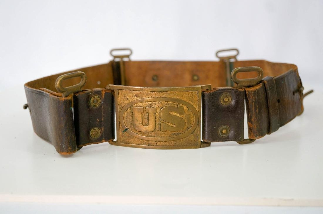 Sam Brown Officers Belt with Buckle, No Strap - 3
