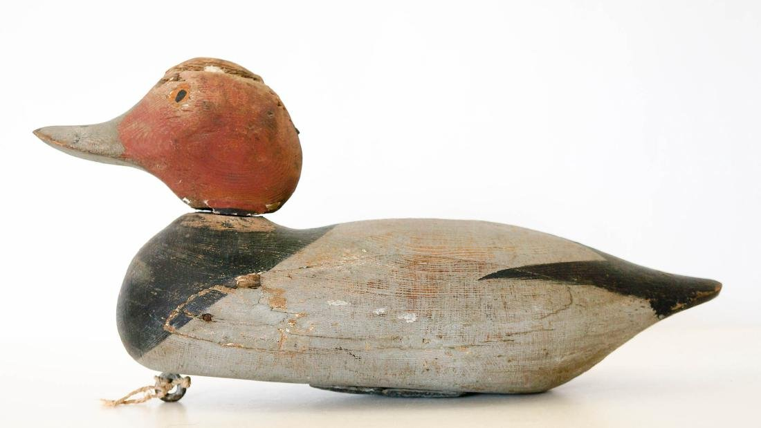 Old Redhead Wood Duck Decoy