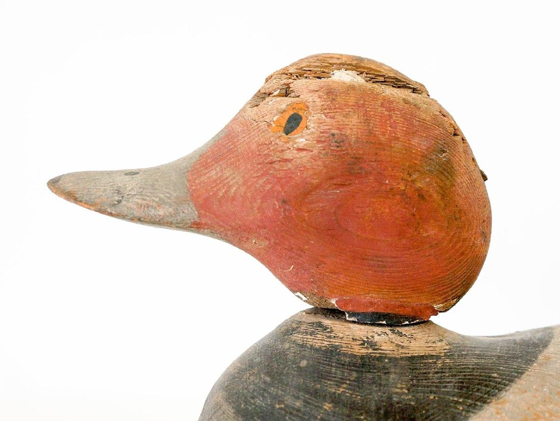 Old Redhead Wood Duck Decoy - 4
