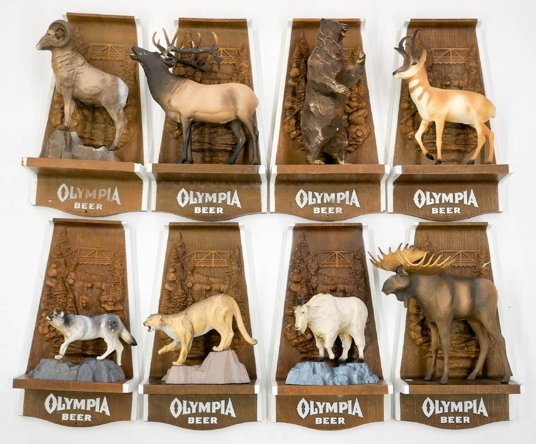 Olympia Beer Advertising Animal Wall Signs