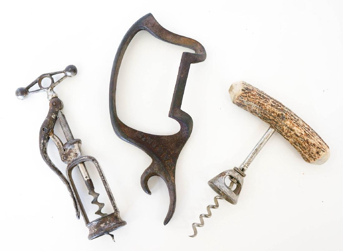 Antique Wine Corkscrews and Bottle Opener