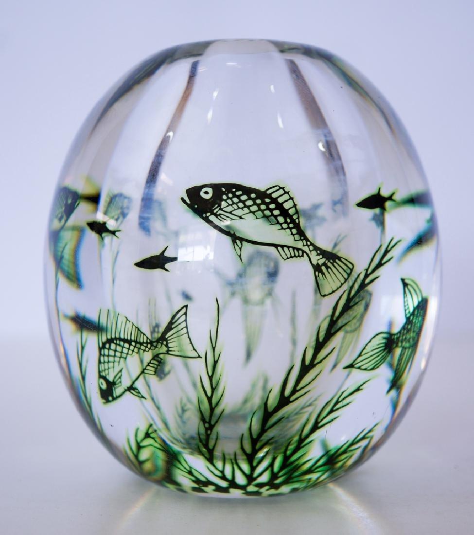 Edward Hald Orrefors Graal Sea Vase - 2