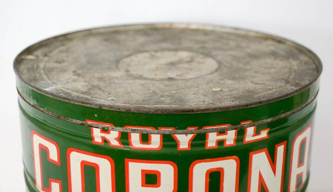 Royal Corona Large Coffee Tin - 4