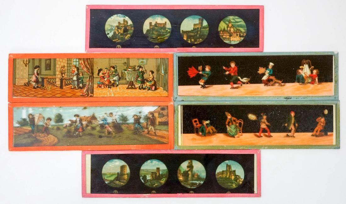 Thirty Four Antique Children's Magic Glass Slides