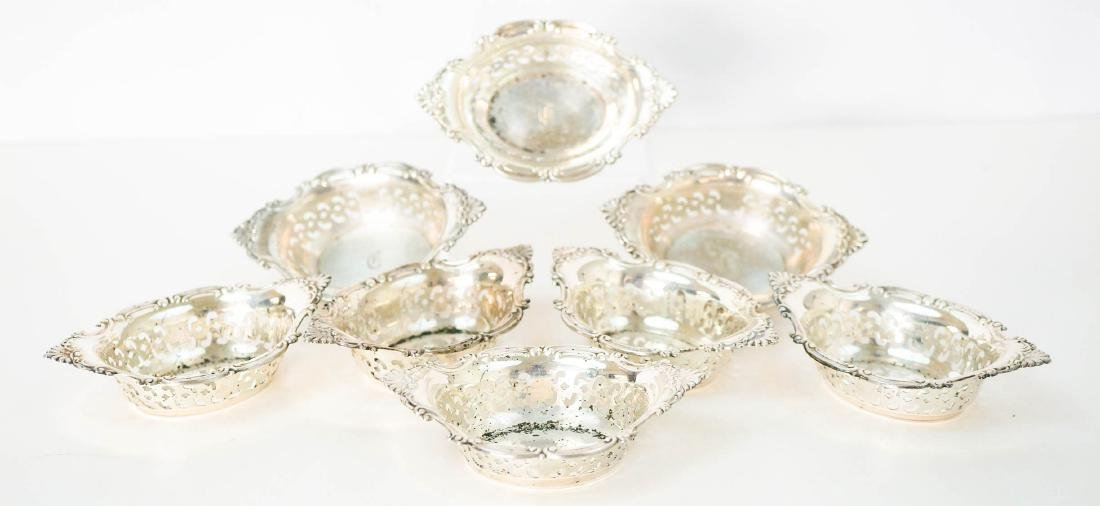 Gorham Sterling Silver Nut Dishes, Eight