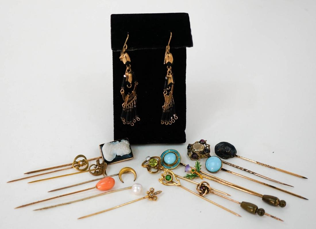 Group of Fifteen Gold and Gold Filled Stick Pins - 2