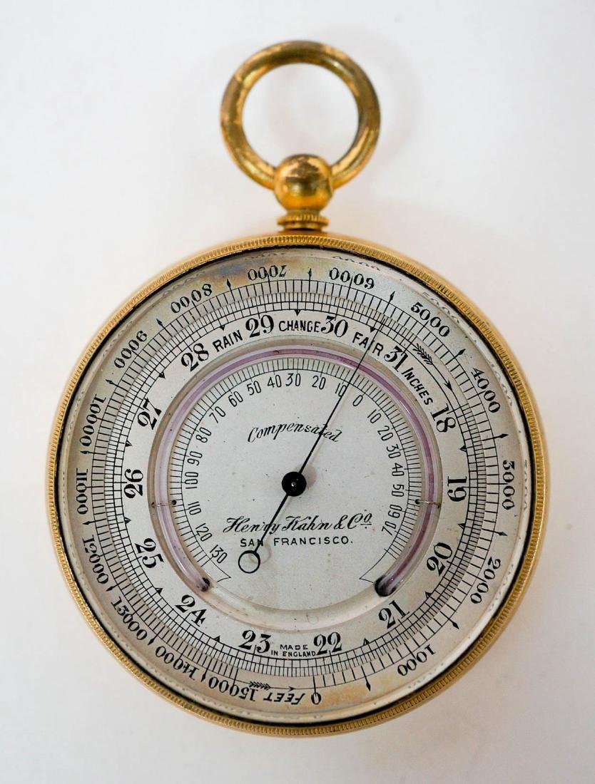 Vintage Henry Kahn & Co. Barometer Made in England