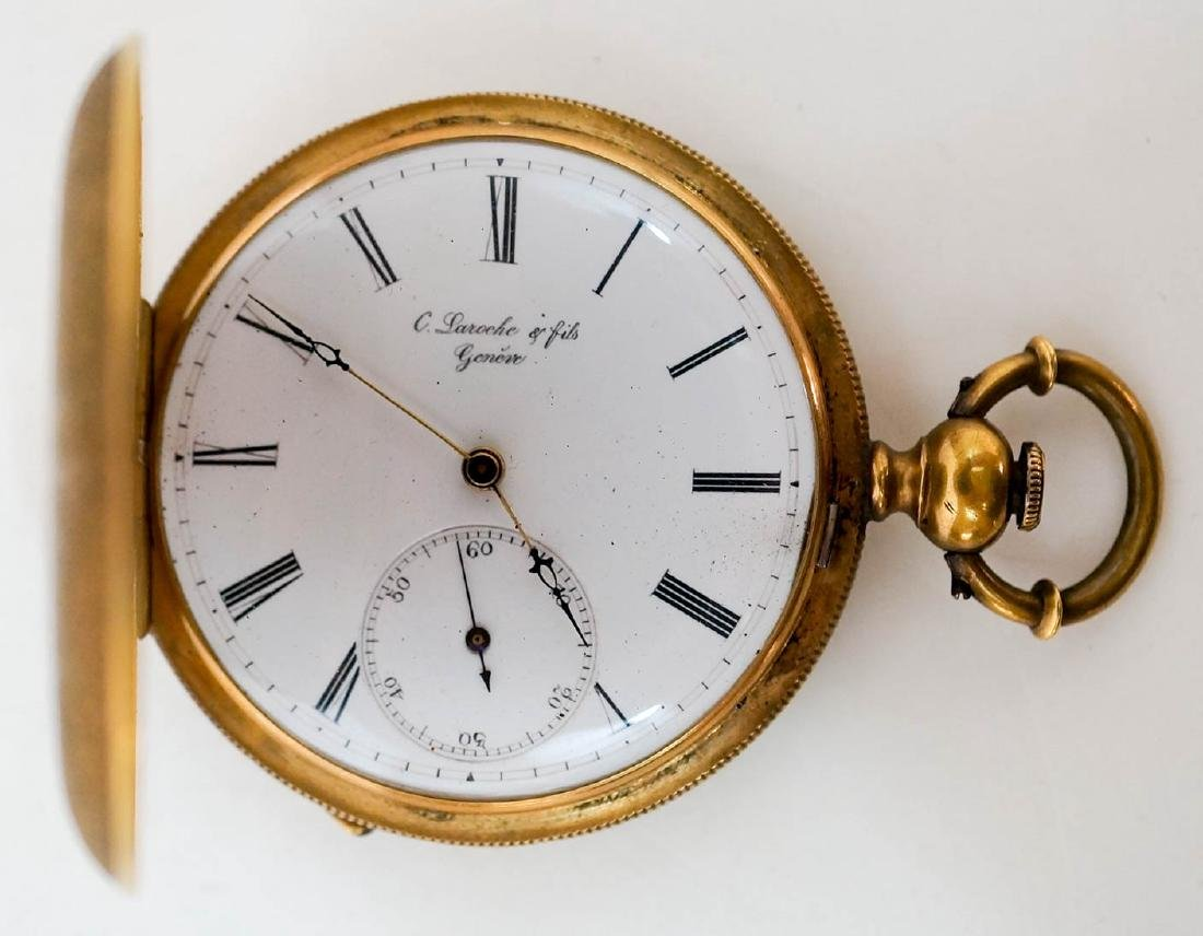 Charles Laroche and Fils 18k Pocket Watch 10 Size - 3