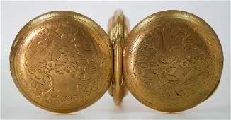 Elgin 14k Gold Hunter Case Pocket Watch 13 Size