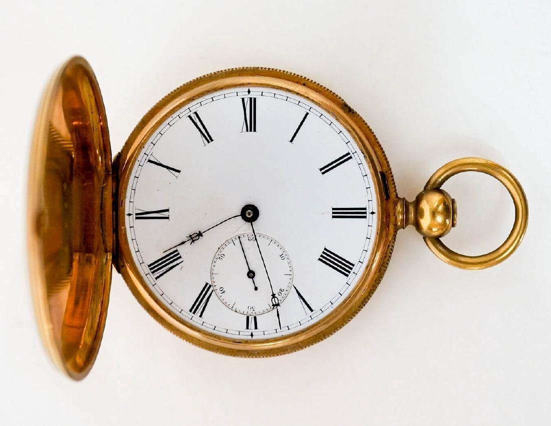 English 18k Gold Pocket Watch for Parts or Repair